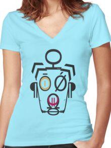 Robot Kid Women's Fitted V-Neck T-Shirt