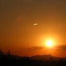 Brilliant Orange Arizona Sunset by Jonathon Wuehler