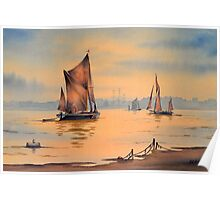 River Thames At Greenwich London Poster