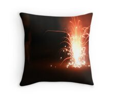 July Fireworks at Night Throw Pillow