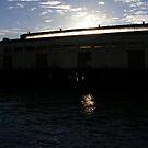 Sunset Warehouse on the Bay by Jonathon Wuehler