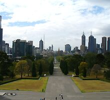 Melbourne - View from Shrine of Remembrance by DashTravels