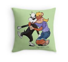 Penny Hugs Butch Elsewhere Throw Pillow
