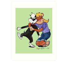 Penny Hugs Butch Elsewhere Art Print
