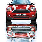 Mini Cooper Old and New by davidkyte