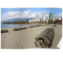 The Sands of English Beach, Vancouver City, Canada  Poster