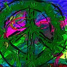 Peace, Paint & Pot Leaves by FloraDiabla