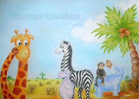 Cedric the Giraffe - Illustration 4 by Corrina Holyoake