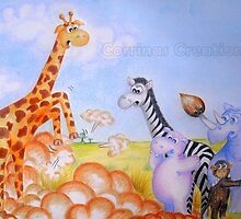 Cedric the Giraffe - Illustration 5 by Corrina Holyoake