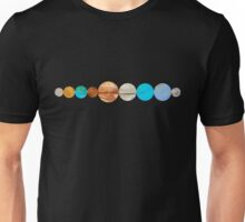 Watercolor Planets Unisex T-Shirt