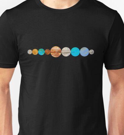 Watercolor Planets Unisex T-Shirt
