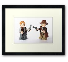 Nice try kid, but I think you just brought a knife. To a gunfight Framed Print