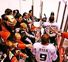 Anaheim Ducks Players Take The Ice by NSauer01