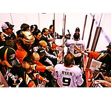 Anaheim Ducks Players Take The Ice Photographic Print
