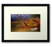 The flow of the time Framed Print