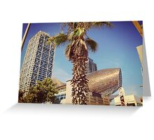 Barceloneta Blue Greeting Card