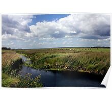 Suffolk landscape Scene at Aldeburgh Poster