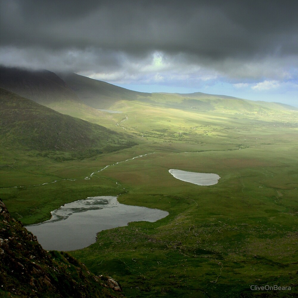 Clouds pass Connor Pass - Dingle Peninsula, Ireland by CliveOnBeara