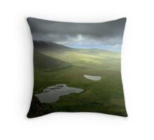 Clouds pass Connor Pass - Dingle Peninsula, Ireland Throw Pillow