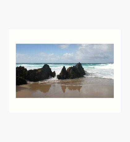 Coumeenole Beach Rocks - Dingle Peninsula, Ireland Art Print