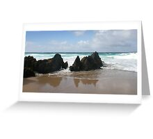 Coumeenole Beach Rocks - Dingle Peninsula, Ireland Greeting Card
