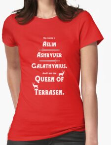 Queen of Terrasen (White on Black) T-Shirt