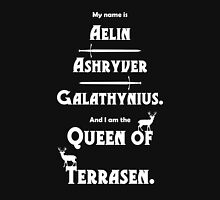 Queen of Terrasen (White on Black) Womens Fitted T-Shirt