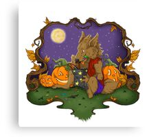 Werewolf Halloween  Canvas Print