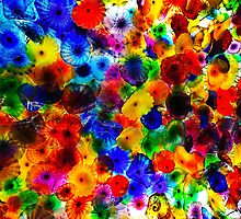 The Bellagio glass flower ceiling by Kana Photography