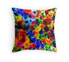 The Bellagio glass flower ceiling Throw Pillow