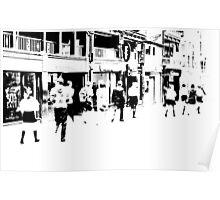 Street Scene - Chester, UK Poster