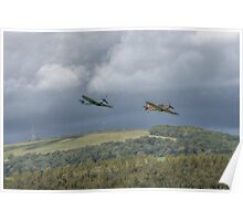 Hurricane and Spitfire Flypast  Poster
