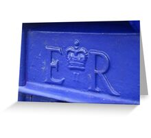 Blue Postbox Greeting Card
