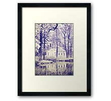 Small house in the park  Framed Print
