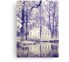 Small house in the park  Canvas Print