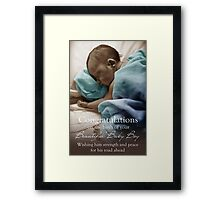 New Born Baby Boy - NICU Stay Framed Print