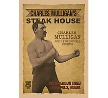 Charles Milligan's Steak House Photographic Print