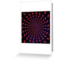 Red Circle Blips Greeting Card