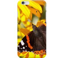 Red Admiral;Yellow Flower iPhone Case/Skin