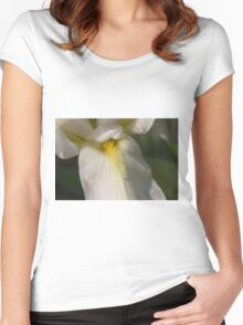 white lilies Women's Fitted Scoop T-Shirt