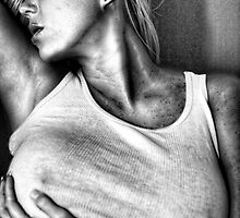 Woman in tight fitting top by focusedone