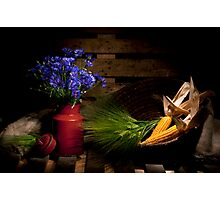 Summer Field Still life with Cornflower Nr. 2 Photographic Print
