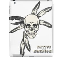 Indian Skull drawn in engraving style iPad Case/Skin