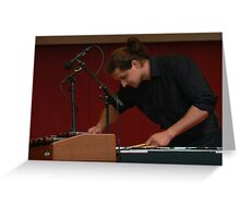 the xylophone player Greeting Card