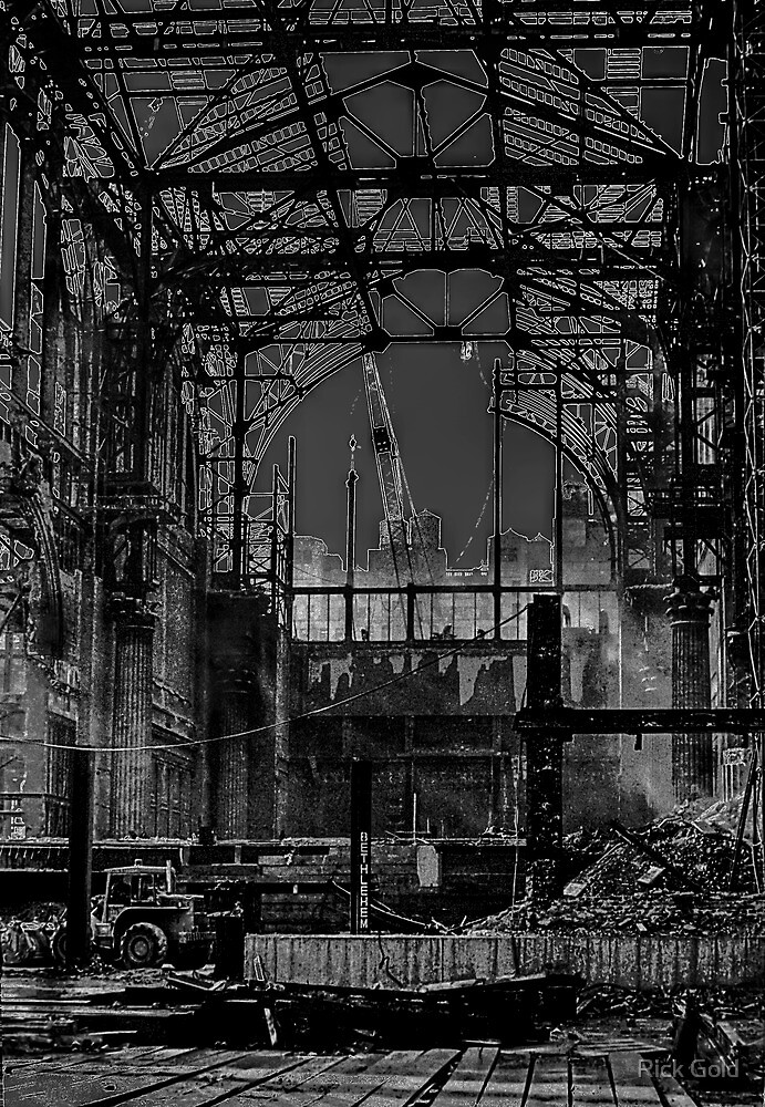 Darkness Overwhelmed Pennsylvania Station 1965 by Rick Gold