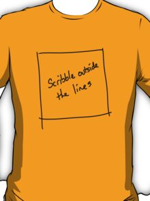 Scribble outside the lines T-Shirt