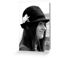 Girl in the Hat Greeting Card