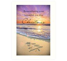 Remembering a Son - Christmas Art Print