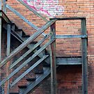 Back Alley Stairs by Rae Tucker