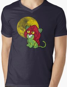 Battlekitty Mens V-Neck T-Shirt